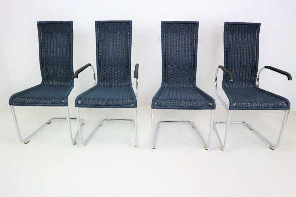 Set of Four Dinner Chairs by Jean Prouvé for Tecta, 1980s
