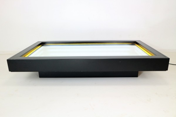 Rare Christian Megert, Limited Op Art Coffee Table/Lighting Object for Rosenthal