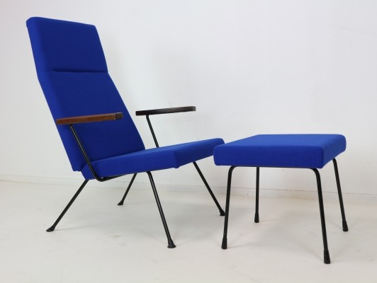 A.R. Cordemeyer Lounge Chair Model 1410 with footstool by Gispen, 1959
