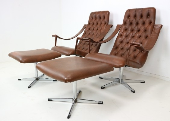 Lounge Chair with Matching Ottoman by Geoffrey Harcourt, 1960s