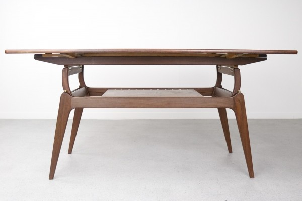 Metamorphic dining / coffee table by B. C. Møbler, 1960s
