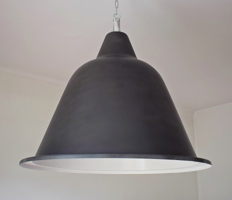 38 x Large boat lamp in raw steel, 1960s