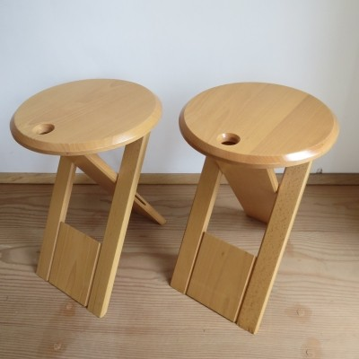 Pair of Suzy stools by Princes Design Works Ltd, 1980s
