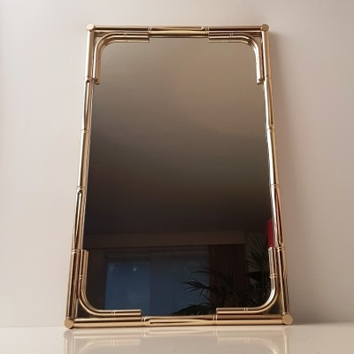 Large brass faux mirror, 1970s