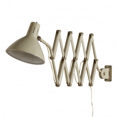 Industrial Hala Scissors Wall Light '110' by H. Busquet, 1960s