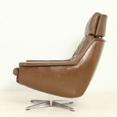 Leather Swivel Chair by Werner Langenfeld