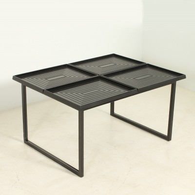 Geometric Coffee Table with Loose Trays
