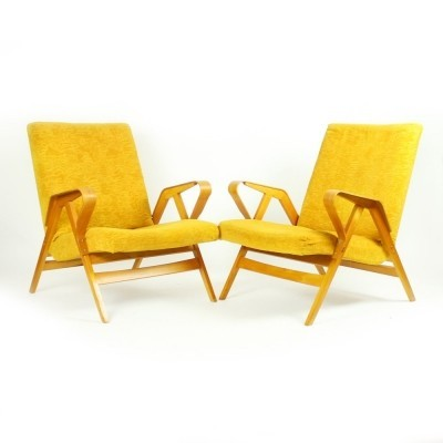 Pair of arm chairs by František Jirák for Tatra Nabytok NP, 1960s