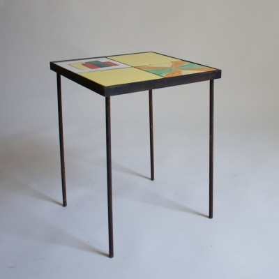 Modernist Tiled Side Table, 1960s