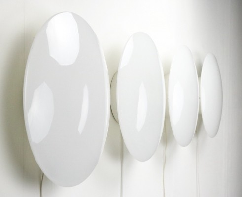6 x Large Eklipta 450 wall lamp by Arne Jacobsen for Louis Poulsen, 1980s
