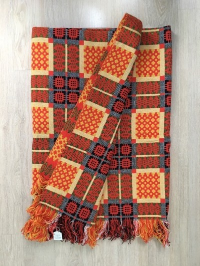Welsh traditional wool blanket, 1970s