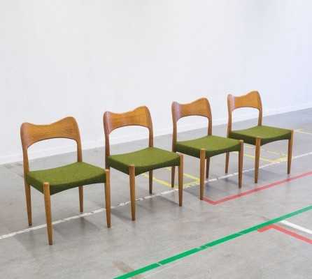 Set of 4 Arne Hovmand Olsen dinner chairs, 1950s