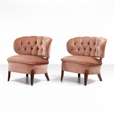 Pair of 'Schulz' easy chairs by Otto Schulz for Jio Möbler, Jönköping