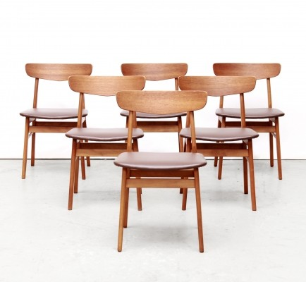 Set of 6 Model 210 dinner chairs by Farstrup, 1950s
