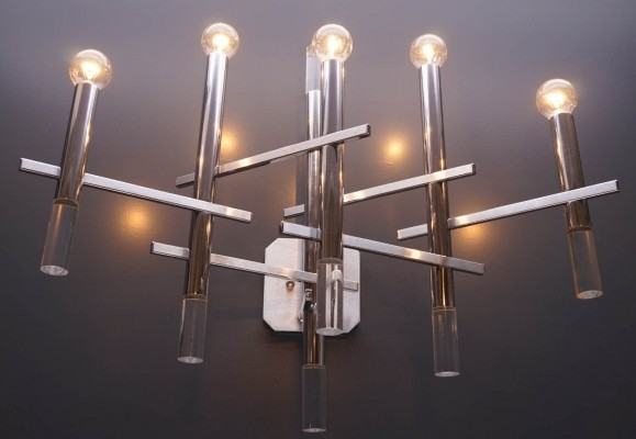 Sciolari Wall Lamp in Chrome & Lucite