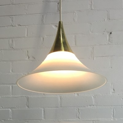 Glashütte hanging lamp, 1970s