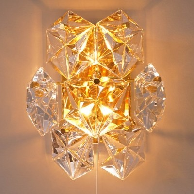 2 x Kinkeldey Wall Sconce with Hexagonal Crystals