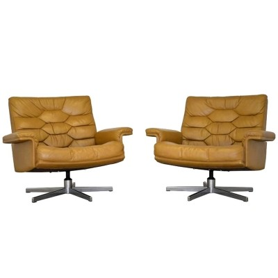 Pair of DS 35 arm chairs by De Sede Design Team for De Sede, 1970s