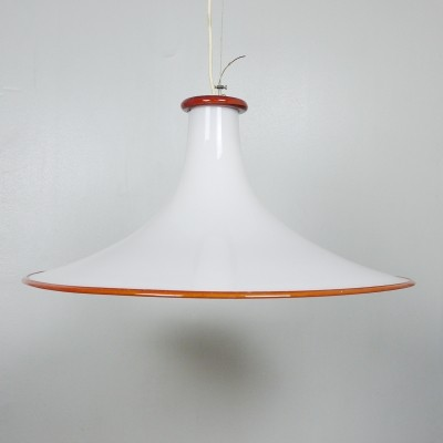 Large tulip Murano glass light with brass fixture