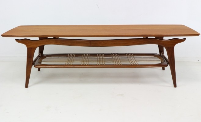 WeBe Louis Van Teeffelen Teak Coffee Table, 1950s