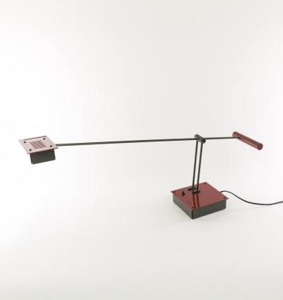 Black & Red Samurai Table Lamp by Shigeaki Asahara for Stilnovo, 1970s