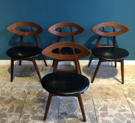 Set of 4 dinner chairs by Ejvind Johansson for Ivan Gern, 1960s