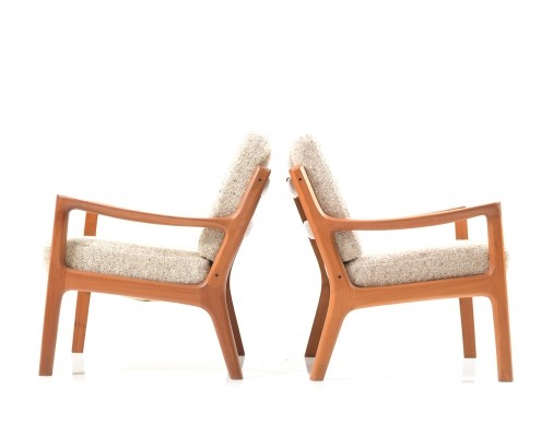Pair of Senator Easychairs in Teak by Ole Wanscher