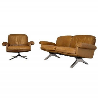 Pair of DS 31 seating groups by De Sede Design Team for De Sede, 1970s