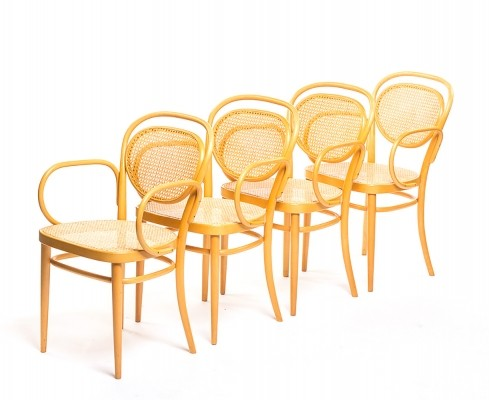 Set of 4 Model 215 RF dinner chairs by Michael Thonet for Thonet, 1970s