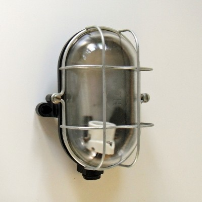 12 x Wall lamp in bakelite, metal & glass