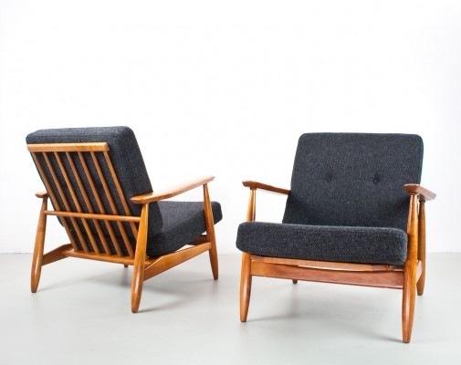 Danish pair of lounge chairs, 1960s