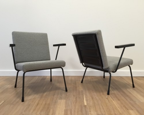 Pair of Model no. 415/1401 lounge chairs by Wim Rietveld & W. Gispen for Gispen, 1950s
