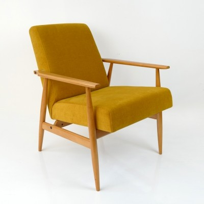 Yellow Vintage Lounge Armchair, 1960's