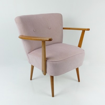 Vintage Pink Cocktail Chair, 1950s