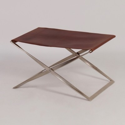PK 91 Folding Stool by Poul Kjaerholm for E. Kold Christensen A/S, Denmark, 1961