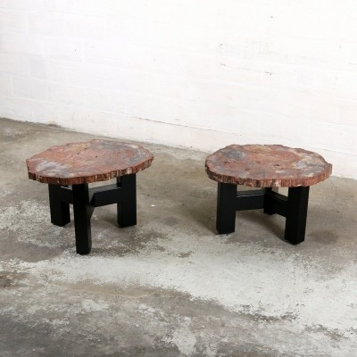Pair of Ado Chale side tables, 1960s