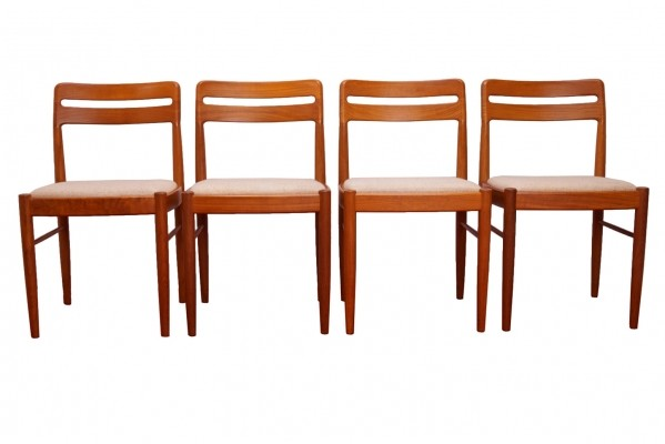 Four Teak Dining Chairs by H.W. Klein for Bramin