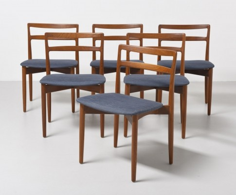 Set of 6 dinner chairs by Harry Ostergaard for Randers Mobelfabrik, 1960s