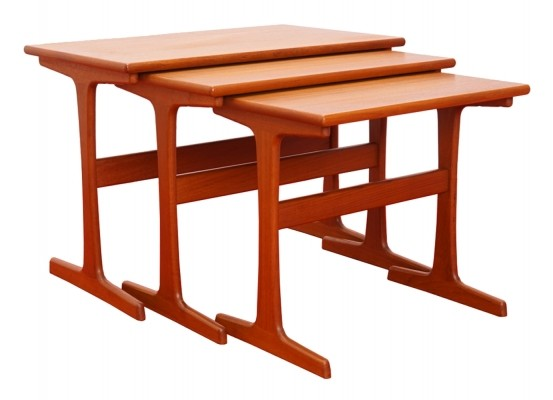 Set of 3 Teak Nesting Tables by Arne Wahl Iversen