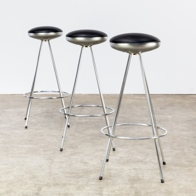 Set of 3 Ufo stools by Sintesi, 1980s