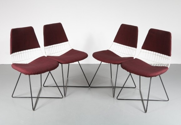 Set of 4 dinner chairs by Floris H. Fiedeldij for Artimeta, 1950s