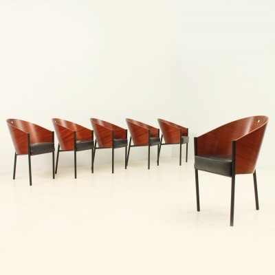 Set of Six Costes Chairs by Philippe Starck