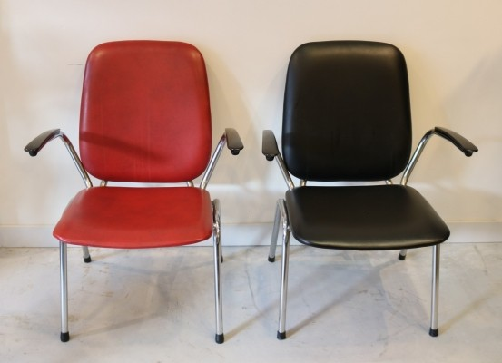 2 x arm chair by Martin de Wit for Gispen, 1960s