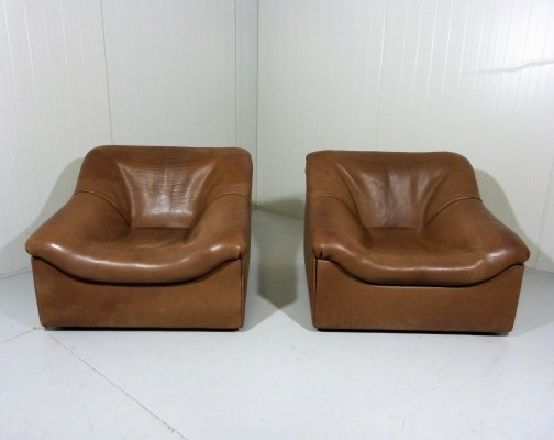 Pair of De Sede DS46 Lounge Chairs