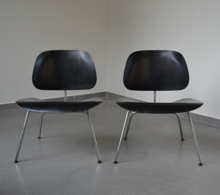 2 x LCM lounge chair by Charles & Ray Eames for Herman Miller, 1950s
