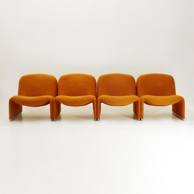 Set of 4 Alky arm chairs by Giancarlo Piretti for Anomia Castelli, 1960s