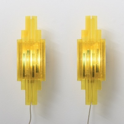 Pair of wall lamps by Claus Bolby for CEBO Industri, 1970s