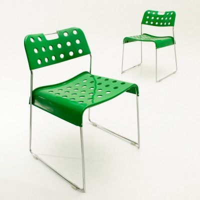 Pair of Omstack dining chairs by Rodney Kinsman for Bieffeplast, 1970s
