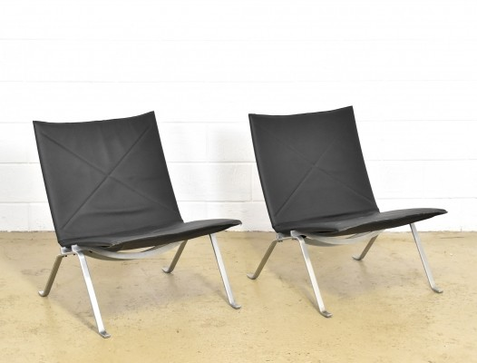 2 x PK22 lounge chair by Poul Kjærholm for E. Kold Christensen, 1960s
