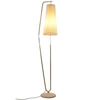 1950s Floor Lamp with Off-white Shade
